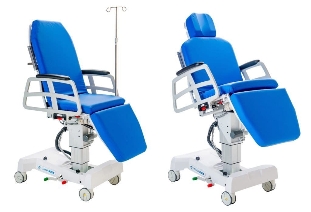 TMM4X PLUS Stretcher-Chair with IV Pole and TMM5X PLUS Stretcher-Chair